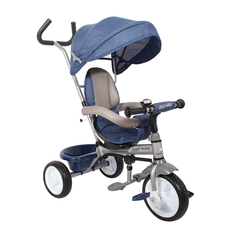 Kids Easy Steer Pedal Tricycle Buggy Stroller with Oxford Cloth (Model XG18859)