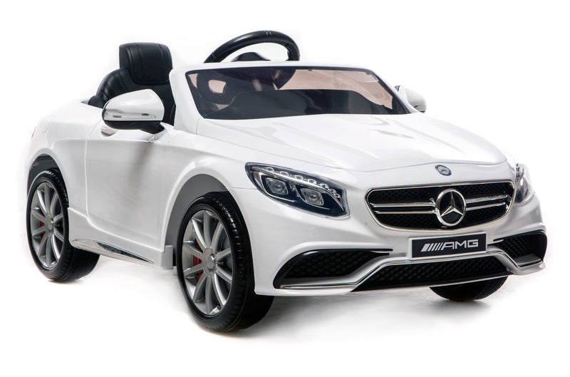 6V 7Ah Battery Twin 15W Motors Powered Mercedes-Benz 63 AMG Licensed Twin Motor Electric Ride On Toy Car (Model: HL169) WHITE