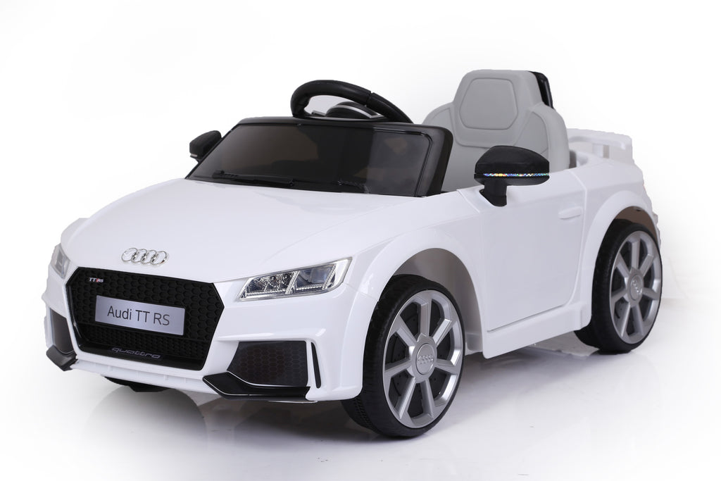 AUDI TT RS Lisenced Battery Powered Kids Electric Ride On Toy Car (Model: JE1198) WHITE