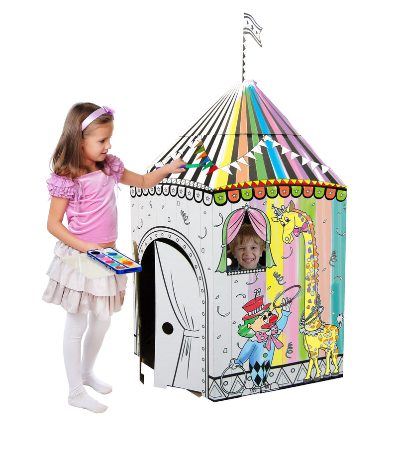 Kids 3D Cardboard Playhouse for Craft Colouring and Pretended Play (My Circus)