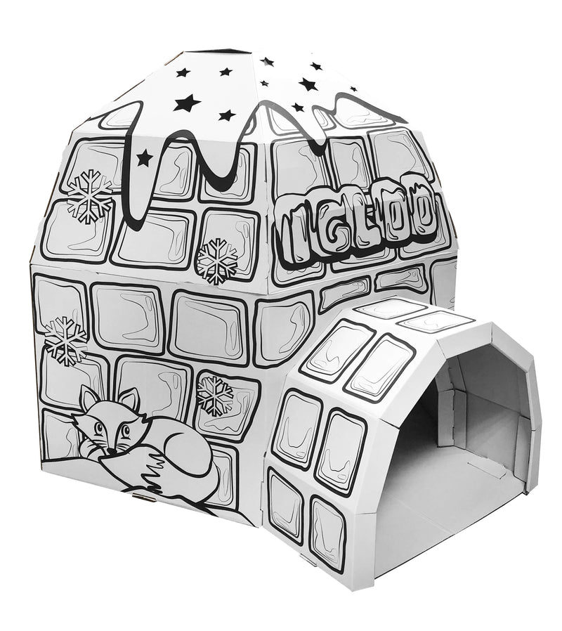 Kids 3D Cardboard Playhouse for Colouring and Pretended Play (GL11864 Igloo)