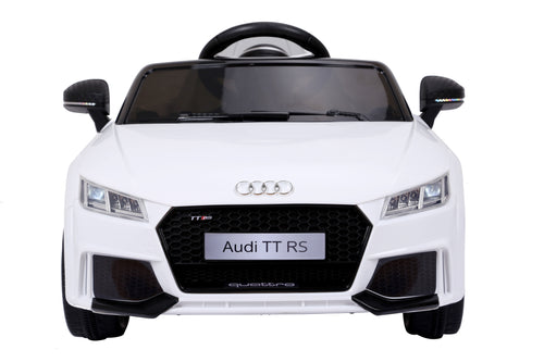 RICCO® AUDI TT RS Lisenced Battery Powered Kids Electric Ride On Toy Car (Model: JE1198) (White)