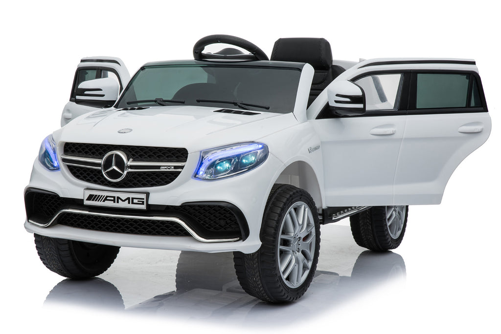 MERCEDES BENZ GLE63S AMG Licensed 4x4 Kids Electric Ride On Car with Remote Control LED Lights and Music (TR1701 WHITE)