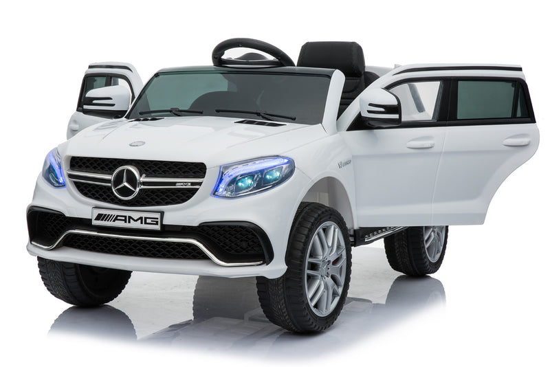 RICCO® MERCEDES BENZ GLE63S AMG Licensed 4x4 Kids Electric Ride On Car with Remote Control LED Lights and Music (Model: TR1701) (White)