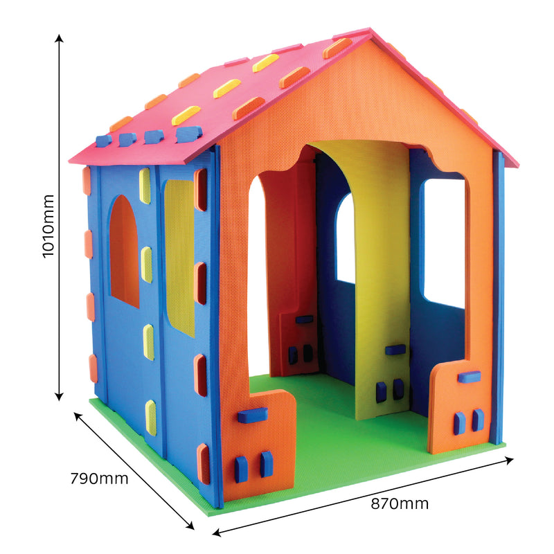 RICCO® Kids 3D Cardboard Playhouse for Colouring and Craft Works (GL9750B Mini Rural House)
