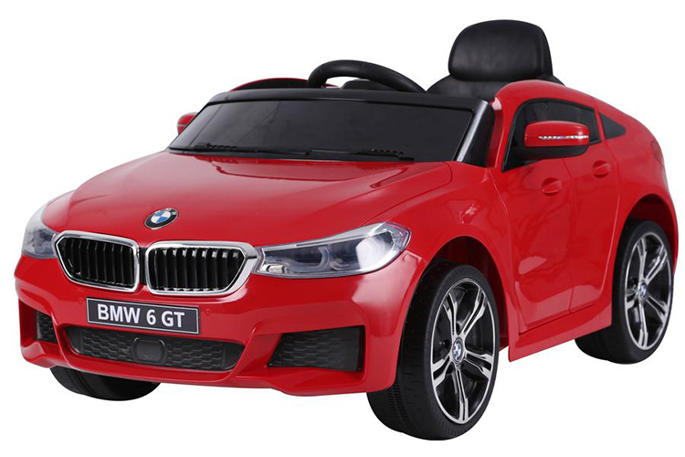 RICCO® Licensed BMW 6 GT TWO MOTORS Battery Powered Kids Electric Ride On Toy Car (Model: JJ2164) (Red)