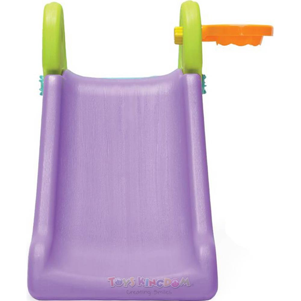 RICCO Y1418 CLIMBING SLIDE 126x69x50cm Kids Foldable Climbing Slide Toy with Detachable Basketball Hoop and Non-Slip Floor Pad