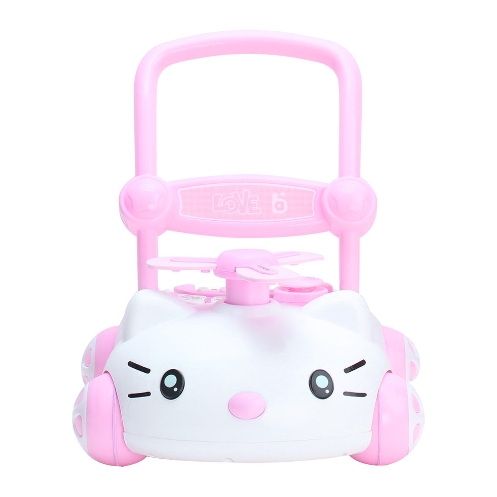 RICCO Baby Sit to Stand Push Along Walker with Music and LED lights and for 1+ Year Olds  ( Model ZX7660) PINK