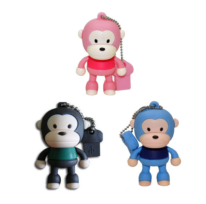 16GB Sitting Little Monkey 2.0 High Speed USB Flash Memory