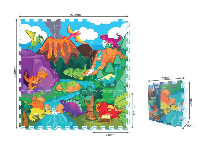 Dino World Baby EVA Roll Mat - ST3074R