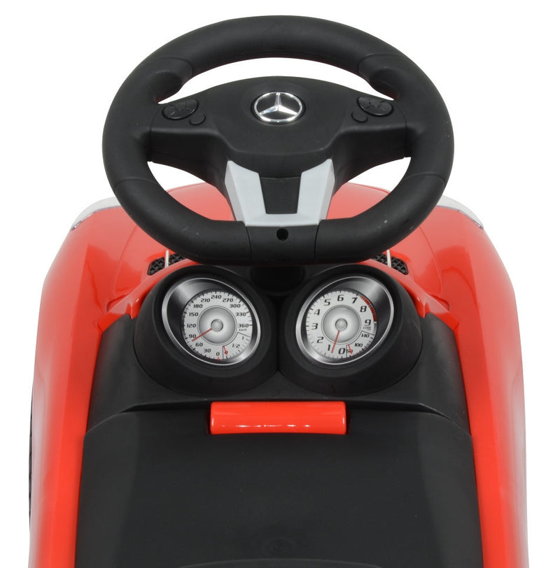 Mercedes Benz Licensed Foot to Floor Push Along Ride On (Model:332) RED
