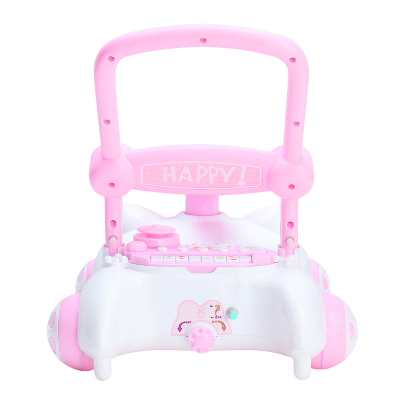RICCO® Baby Sit to Stand Push Along Walker with Music and LED lights and for 1+ Year Olds  ( Model ZX7660) PINK