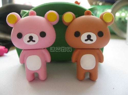 16GB Silicone Bear USB 2.0 High Speed Flash Drive with Shock Proof for Windows and Mac OS