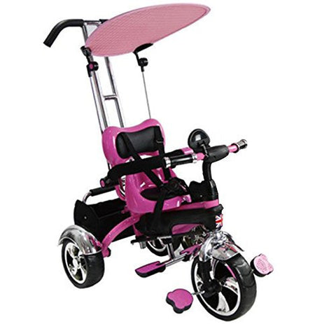 Easy Steer Stroller Trike With Pedal (Model:GR01) PINK