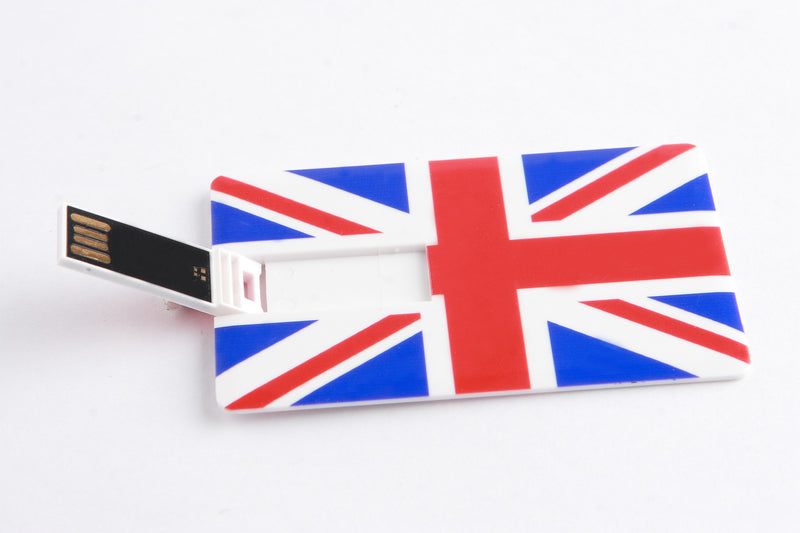 RICCO® 04-001 Credit Card Sized Novelty Flags USB 2.0 Flash Drive - 8GB