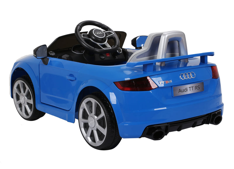 AUDI TT RS Lisenced Battery Powered Kids Electric Ride On Toy Car (Model: JE1198) BLUE