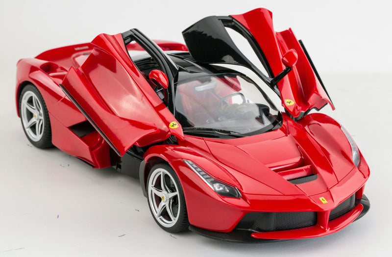 (PACK OF 6)  RASTAR RC50100 Genuine Licensed 1: 14 RC  La Ferrari F12 Open Door Radio Remote Control Car Red