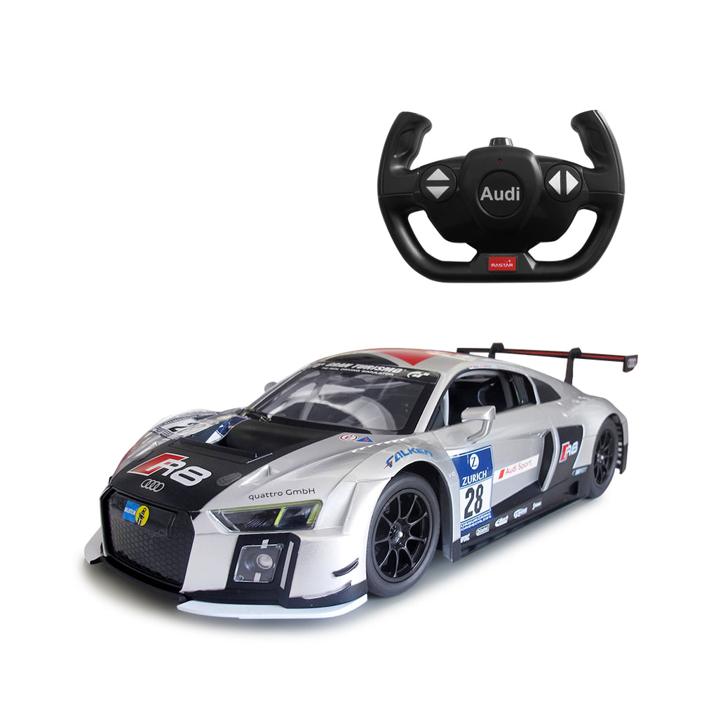 (PACK OF 6)  RASTAR RC75300 Genuine Licensed 1: 14 RC Audi R8 LMS Radio Remote Control Car Silver