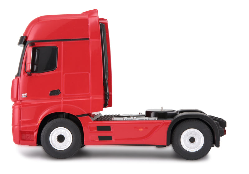 (PACK OF 6)  RASTAR RC74920 Genuine Licensed 1: 26 RC Mercedes-Benz Actros Trailer Truck with 1/24 Car Radio Remote Control Car Red
