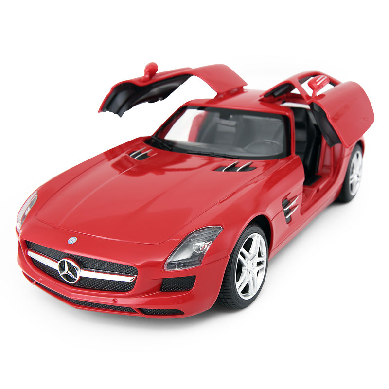 (PACK OF 6)  RASTAR RC47600 Genuine Licensed 1: 14 RC Mercedes-Benz SLS AMG Open Door Radio Remote Control Car Red