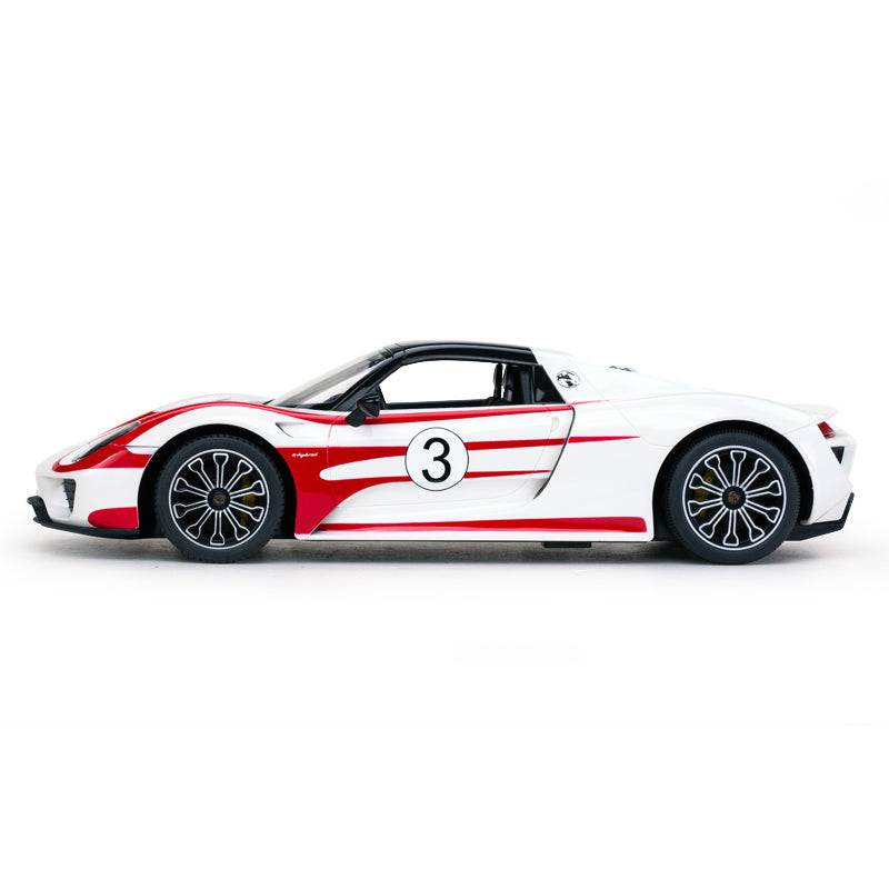 (PACK OF 6)  WHITE RC70710 Genuine Licensed 1: 14 Porsche 918 Spyder Weissach Performance Radio Remote Control Car