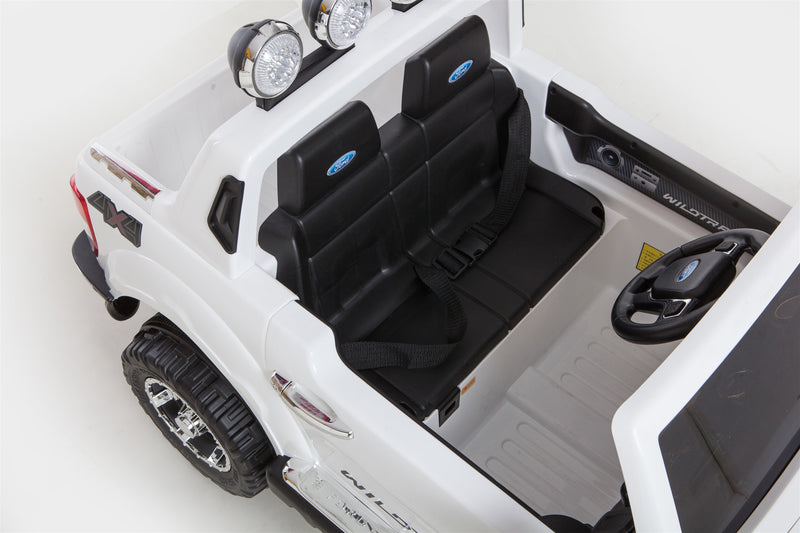 Licensed FORD RANGER 4x4 Kids Electric Ride On Car with Remote Control LED Lights and Music DK-F150 WHITE