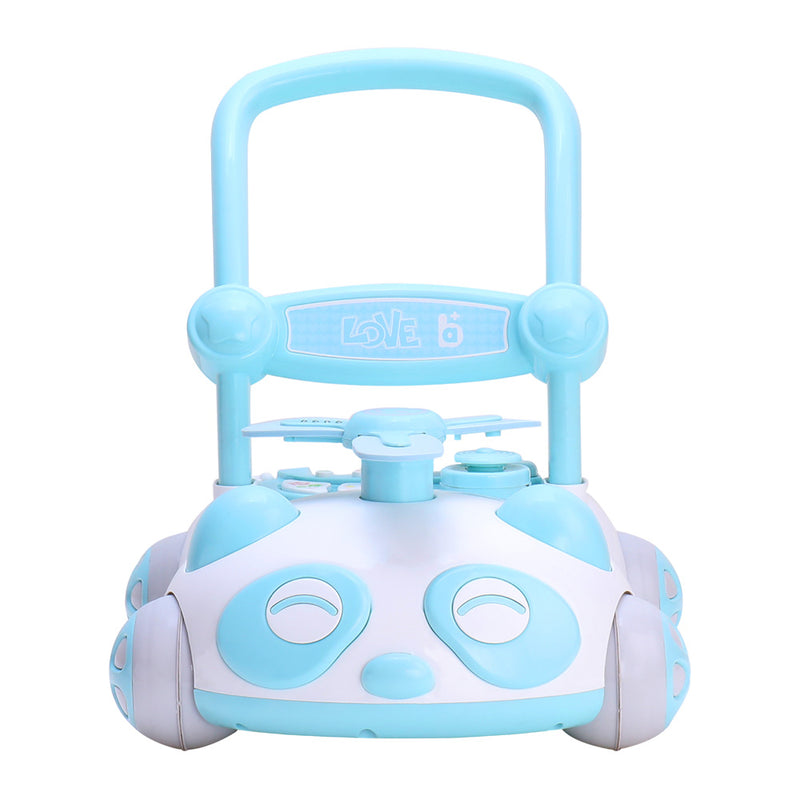 RICCO Baby Sit to Stand Push Along Walker with Music and LED lights and for 1+ Year Olds  ( Model ZX7659) BLUE