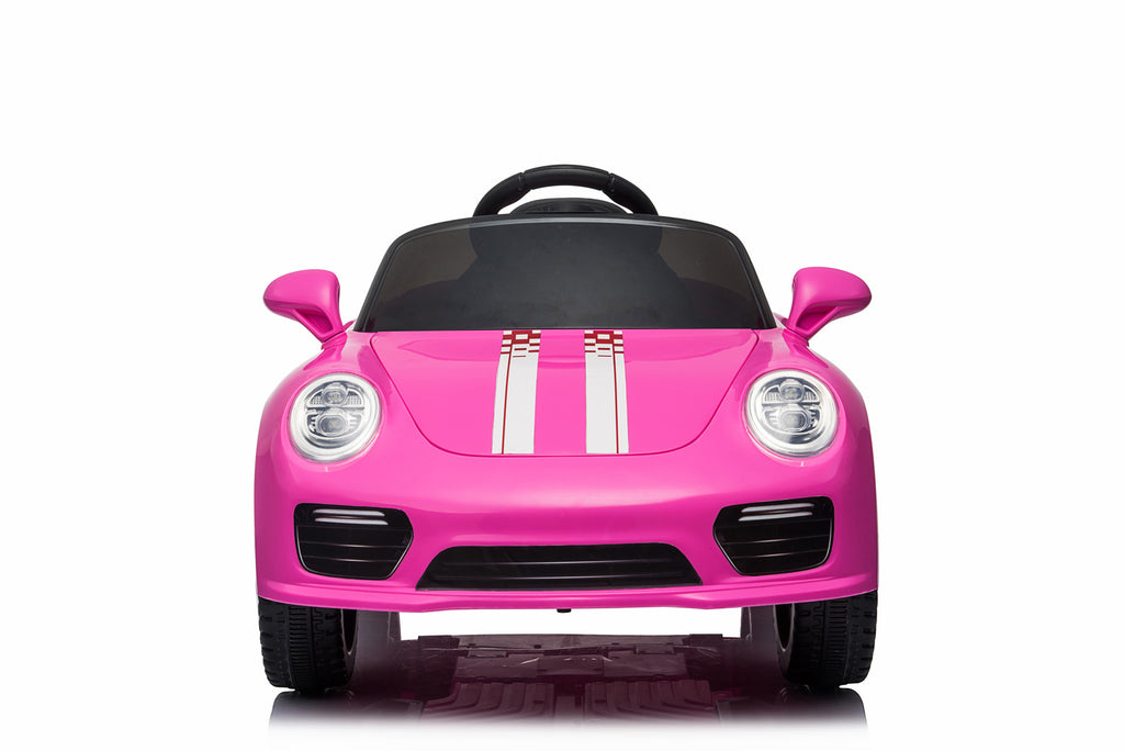 Kids 2x6V 15W TWO MOTORS Battery Powered Boxster Style Electric Ride On Sports Coupe Toy Car (Model: S2988) PINK