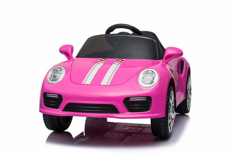 Kids 2x6V 15W TWO MOTORS Battery Powered Boxster Style Electric Ride On Sports Coupe Toy Car (Model: S2988) RED