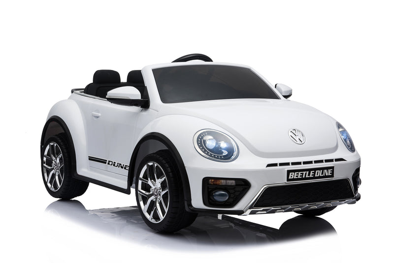Volkswagen Licenced VW BEETLE 12V 4.5A Battery Powered Kids Electric Ride On Toy Car (MODEL S303 WHITE)