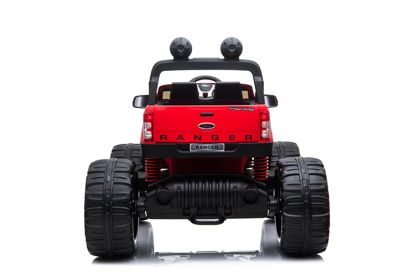 RED 12V 10A Ford Ranger Licenced Monster Truck 4 Motors Kids Electric Ride on Car (MT550 Standard Version)