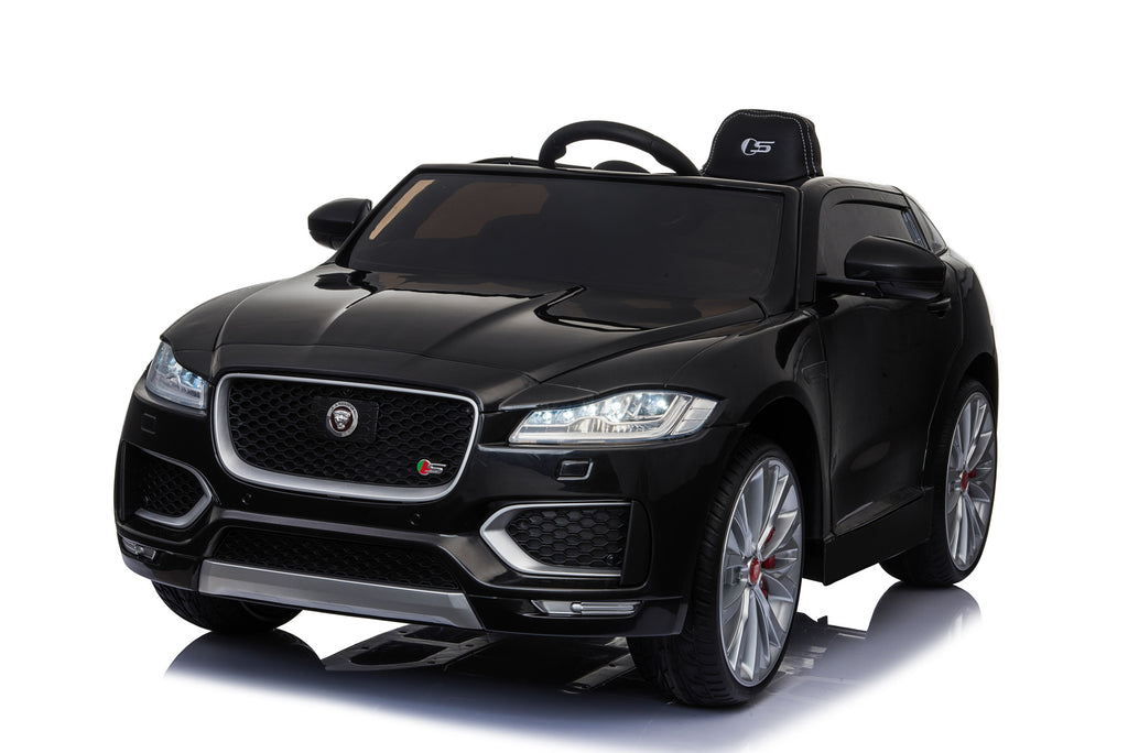 Jaguar F Pace Licensed 12V 7A  Battery Powered Kids Electric Ride On Toy Car (MODEL LS818) Metallic Black