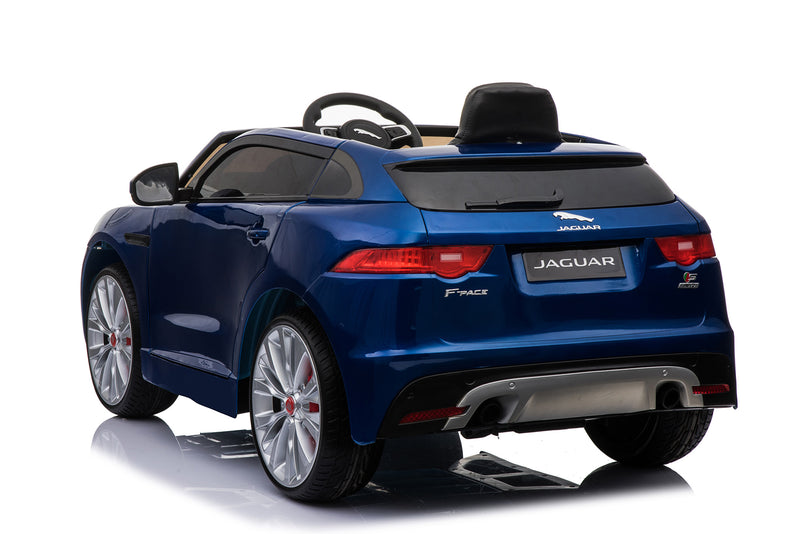 Jaguar F Pace Licensed 12V 7A  Battery Powered Kids Electric Ride On Toy Car (MODEL LS818) Metallic Blue