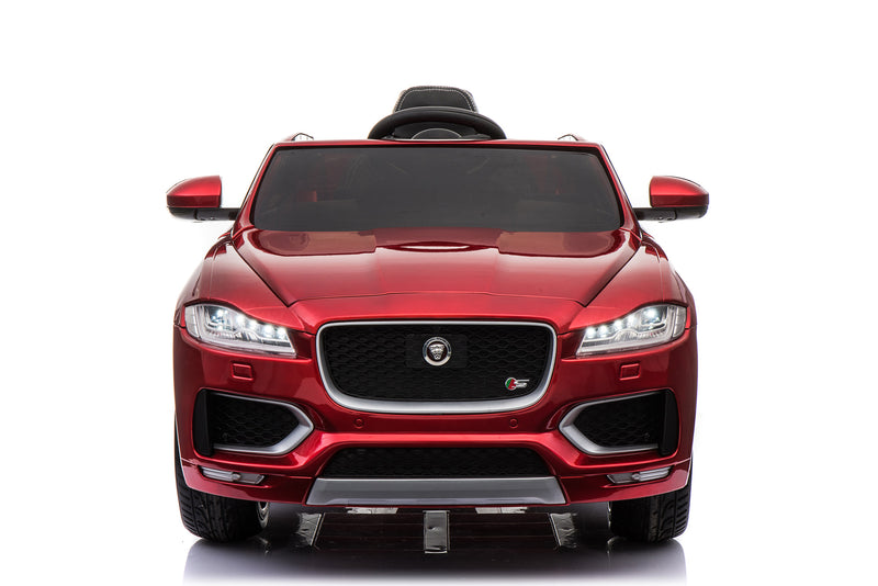 Jaguar F Pace Licensed 12V 7A  Battery Powered Kids Electric Ride On Toy Car (MODEL LS818) Metallic Red