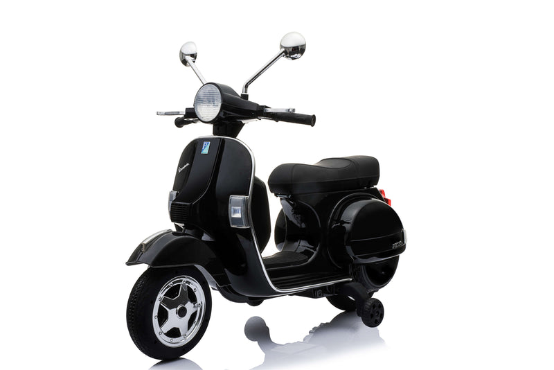 Large Vespa PX150 Licensed 12V 7A Ride On Scooter Bike with Training Wheels for 3-8 Years Old (5 Colours)