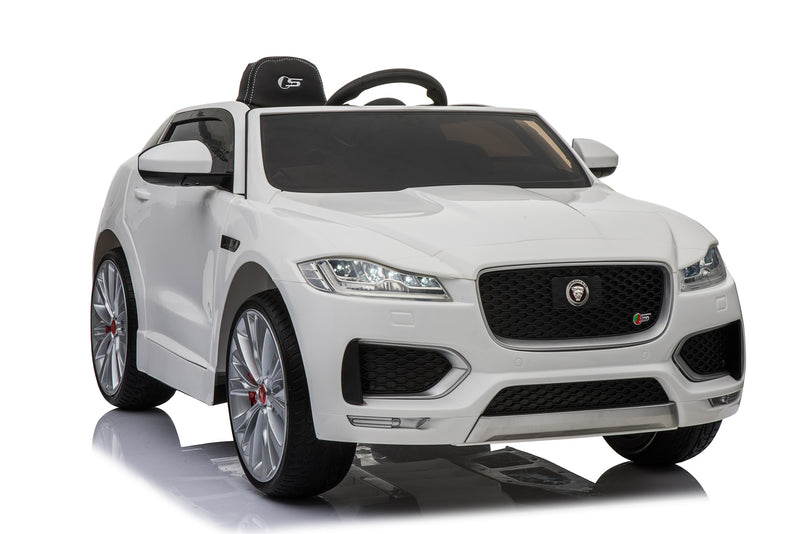 Jaguar F Pace Licensed 12V 7A  Battery Powered Kids Electric Ride On Toy Car (MODEL LS818) Plain White