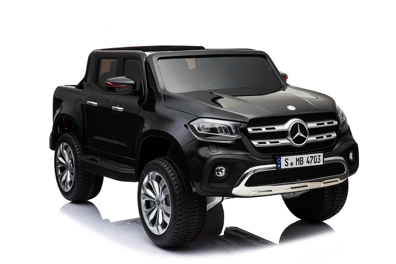 Mercedes Benz Licensed 4x4 Kids Electric Ride On Car with Remote Control LED Lights and Music (XMX606) BLACK