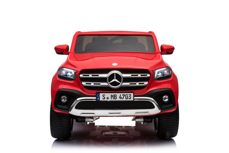 Mercedes Benz Licensed 4x4 Kids Electric Ride On Car with Remote Control LED Lights and Music (XMX606) RED