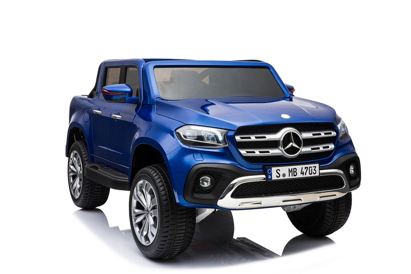 Mercedes Benz Licensed 4x4 Kids Electric Ride On Car with Remote Control LED Lights and Music (XMX606) BLUE