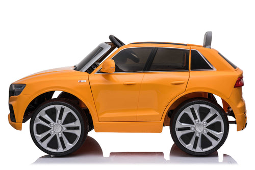 RICCO® AUDI Q8 Licensed 4x4 Kids Electric Ride On Car with Remote Control LED Lights and Music (Model JJ2066) (Yellow)