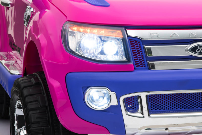 Licensed FORD RANGER 4x4 Kids Electric Ride On Car with Remote Control LED Lights and Music DK-F150 PINK