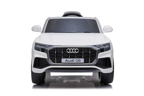 RICCO® AUDI Q8 Licensed 4x4 Kids Electric Ride On Car with Remote Control LED Lights and Music (Model JJ2066) (White)