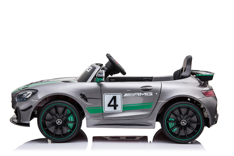 RICCO® Mercedes Benz GT4 AMG SPORTS EDITION Two Motors Licenced Battery Powered Kids Electric Ride On Toy Car - SX1918 (3 colours)