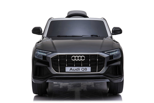 RICCO® AUDI Q8 Licensed 4x4 Kids Electric Ride On Car with Remote Control LED Lights and Music (Model JJ2066) (Black)
