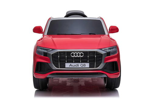 RICCO® AUDI Q8 Licensed 4x4 Kids Electric Ride On Car with Remote Control LED Lights and Music (Model JJ2066) (Red)