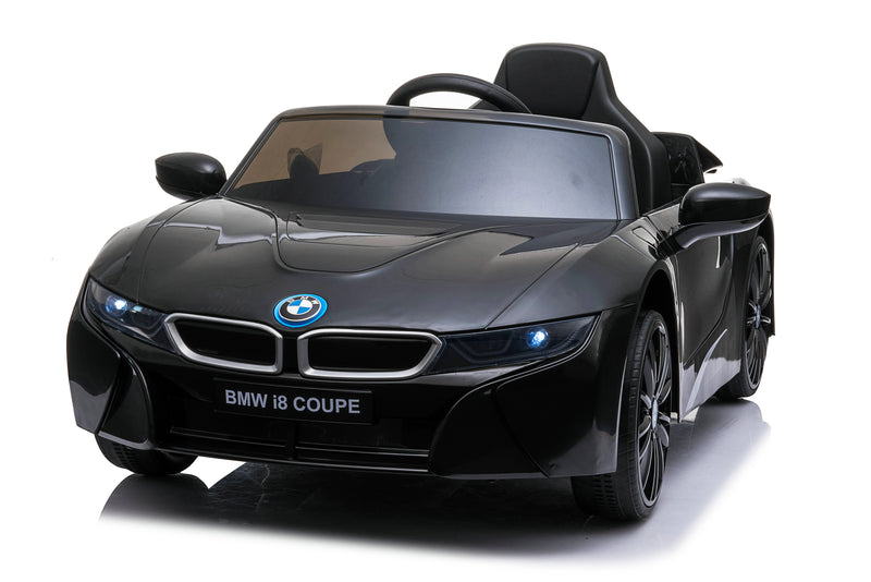 RICCO® BMW i8 Licensed 12V  4.5A Two Motors Battery Powered Electric Ride On Toy Car (Model: JE1001) (Black)