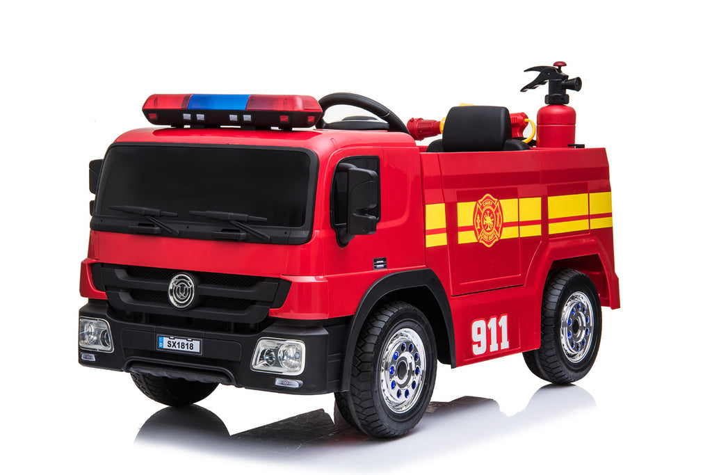 FIRE ENGINE Electric Battery Powered Kids Electric Ride On Toy Car (Model: SX1818) RED