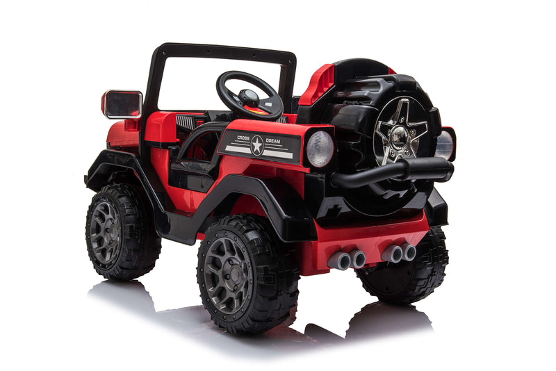 RICCO Kids 4X4 Electric Ride On Car with Remote Control LED Lights and Music