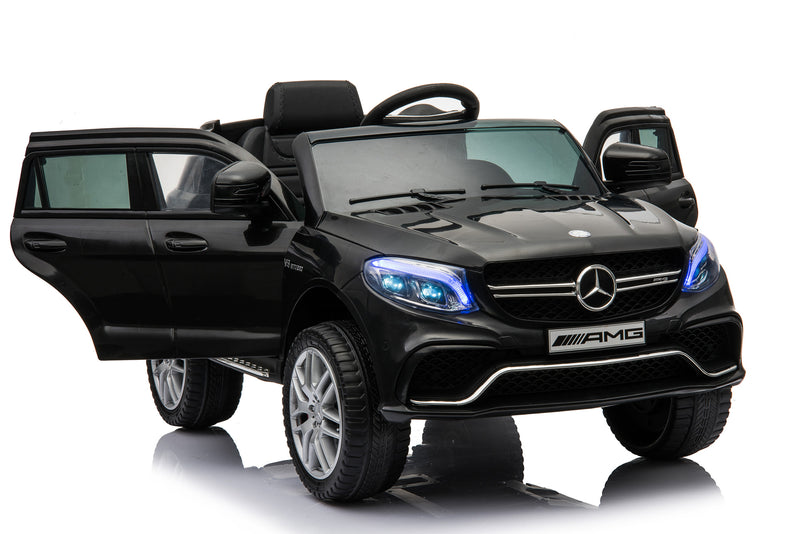 RICCO® MERCEDES BENZ GLE63S AMG Licensed 4x4 Kids Electric Ride On Car with Remote Control LED Lights and Music (TR1701 BLACK)
