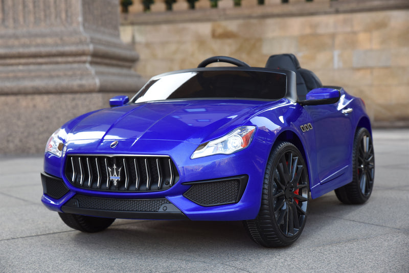 Maserati Quattroporte Licenced 12V 7A Battery Powered Kids Electric Ride On Toy Car ZLG8588 BLUE